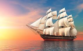 schooner boat sailing ship sea