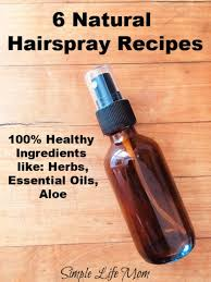 6 natural hairspray recipes simple