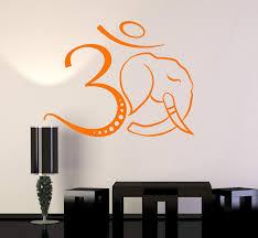 Vinyl Wall Decal Om Symbol Elephant Head Hinduism Hindu Stickers Uniqu Wallstickers4you