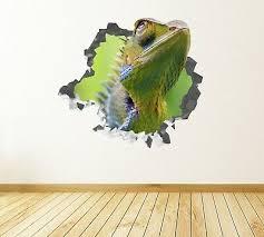 Animal Chameleon Green Custom Wall Decals 3d Wall Stickers Art Js856 Bonice Ebay