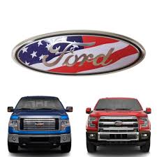 2pcs Ford Front Tailgate Emblem Oval 9 X3 5 American Flag Decal Badge Nameplate For 04 14 F150 F250 F350 11 14 Edge 11 16 Explorer 06 11 Ranger All Accessories For Cars Carnecessaries Com