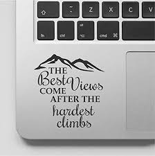 Amazon Com Decal Sticker Pros Mountain Design Motivational Quote Decal Laptop Macbook Trackpad Keypad Sticker Kitchen Dining