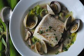 Braised Halibut with Leeks, Mushrooms ...