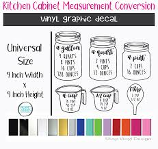 Kitchen Measurements Cheat Sheet For Kitchen Cabinets Farmhouse Sign Or Frame Vinyl Graphic Decal Vinyl Graphic Decal By Shop Vinyl Design Shop Vinyl Design