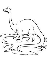 Brontosaurus Dinosaurus Kleurplaat Gratis Kleurplaten Printen