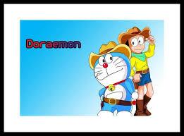 myimage cartoon doraemon nobita digital printing framed poster