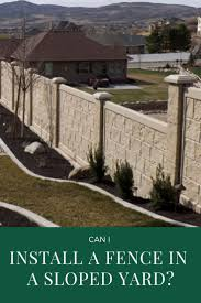 Can I Install A Fence In A Sloped Yard Privacylink
