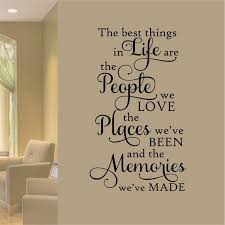 family wall decal best things in life people places memories
