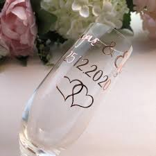 Personalized Decal Label For Wedding Party Champagne Flutes Glasses Wine Glasses Stickers Party Diy Decorations Aliexpress