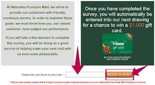 nebraska furniture mart survey at