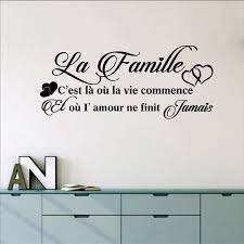 French La Famille Vinyl Mural Wall Decals Sticker France Family Decor Kjselections