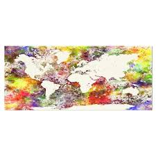 Shop Designart World Map In Great Colors Watercolor Map Round Wall Art Overstock 14263917