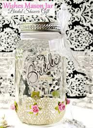wishes mason jar bridal shower gift