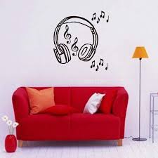 Music Big Headset Pattern Vinyl Wall Stickers For Living Room Decals Bedroom Young People Fashion Style Murals Tree Wall Stickers For Bedrooms Unique Wall Decals From Onlinegame 12 21 Dhgate Com
