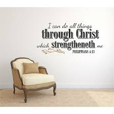 Gracie Oaks I Can Do All Things Through Christ Religious Vinyl Letter Word Wall Decal Reviews Wayfair