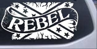 Rebel Banner Rebel Flag Car Or Truck Window Decal Sticker Rad Dezigns