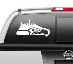 Seattle Seahawks City Skyline Window Sticker Vinyl Deca