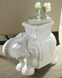 white elephant garden seat