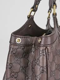 gucci dark brown guccissima leather