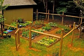Gorgeous Gardens Fenced Vegetable Garden Backyard Fences Cheap Fence