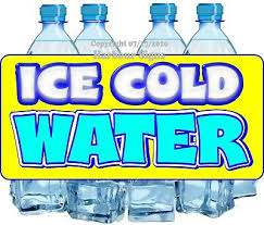 Ice Cold Water Decal Choose Your Size Bottled Food Truck Concession Sticker Ebay