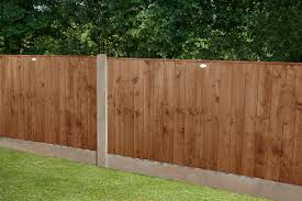 6ft X 3ft 1 83m X 0 93m Pressure Treated Featheredge Fence Panel Dark Brown Forest Garden