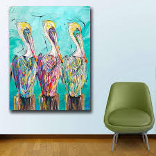 Wxkoil Fashion Art Three Of A Kind Pelicans Wall Art Canvas Painting For Living Room Home Decor Oil Painting Wall Art Picture Arts Fashion Fashion Artart Pictures Aliexpress