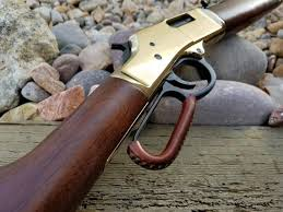 henry leather lever action wrap