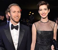 Anne Hathaway And Adam Shulman Hide Their Faces For Charity
