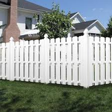 Freedom 6 Ft H X 6 Ft W White Vinyl Dog Ear Fence Panel In The Vinyl Fence Panels Department At Lowes Com