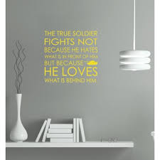 A True Soldier Wall Quote Lettering Military Decal Vinyl Wall Decal Sticker Yellow 15x14 5 Inch Walmart Com Walmart Com