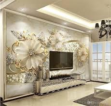حجم مخصص 3d صور خلفيات غرف معيشة جدارية الذهبي الأوروبي نمط