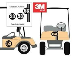 Herbie Choose Number Custom Golf Cart 3m Decal Sticker Ez Go Club Car Yamaha Hdk Ebay