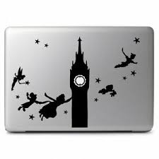 Peter Pan Big Ben Flying For Macbook Air Pro Laptop Car Window Decal Sticker Diy Ebay