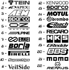 Amazon Com 22 Car Sponsor Jdm Decal Pack Jdm Racing Sticker Vinyl Windshield Window Automotive
