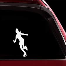 Amazon Com Ytedad Car Sticker Car Decal Young Woman With Pigtails Is Skiing Car Stickers For Car Body Window Door Rear Windshield Home Kitchen