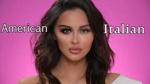 american vs italian makeup tutorial