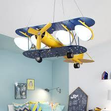 Led Lights With Bulb Airplane Chandelier Children S Room Lighting Fixtures Boy Bedroom Cartoon Boys Hanging Lamp Kids Cute Gift Pendant Lights Aliexpress