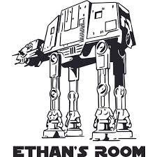 Star Wars Atat Robot Cartoon Character Design Customized Wall Art Vinyl Decal Custom Vinyl Wall Art