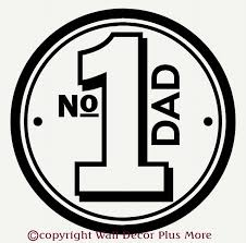 Number 1 Dad With A Circle Border Car Window Decal Stickers 7x7 Father S Day Stickers Fathers Day Fathers Day Quotes