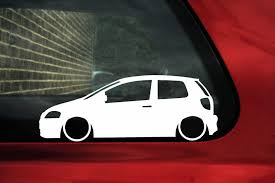 2x Low Car Outline Stickers For Volkswagen Vw Fox