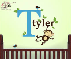 Boy Monkey With Initial Name And Birds Jungle Name