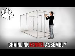Lucky Dog 5 X10 Chainlink Boxed Kennel Assembly Youtube