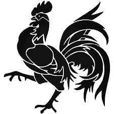 Tribal Rooster Chicken Farm 2 Vinyl Decal Sticker