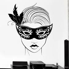 Carnival Mask Wall Decal For Living Room Masquerade Sexy Hot Girl Sexy Vinyl Wall Decal Decor Bedroom Nodic Home Decoration Name Wall Decals Name Wall Stickers From Joystickers 15 37 Dhgate Com