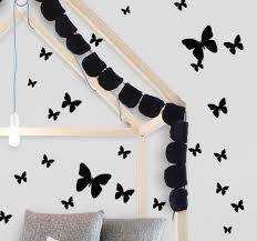 Black Butterfly Wall Decals Butterfly Room Decor Stickers