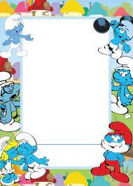 Printable Smurfs Invitation Pitufos Manualidades Manualidades