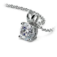 round solitaire pendant setting in