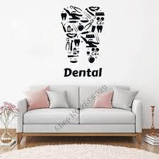 تصميم جديد الفينيل الجدار ملصق مائي عيادة الأسنان أطباء الأسنان