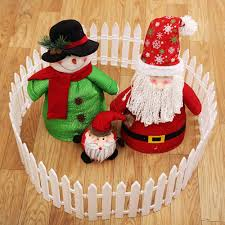 1pcs Diy Miniature Small Wood Fence Christmas Tree Fence White Christmas Decorations Merry Christmas Gift 17 21cm Drop Shipping Fencing Trellis Gates Aliexpress